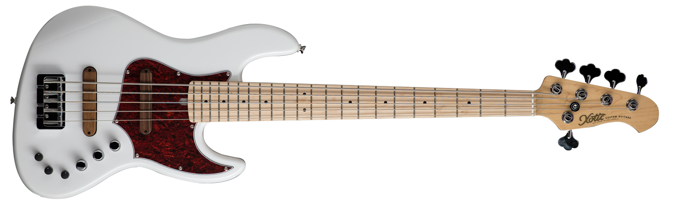 XJPRO-1 5-string (ASH BODY / MAPLE FB ) White - Stock Date - In Stock