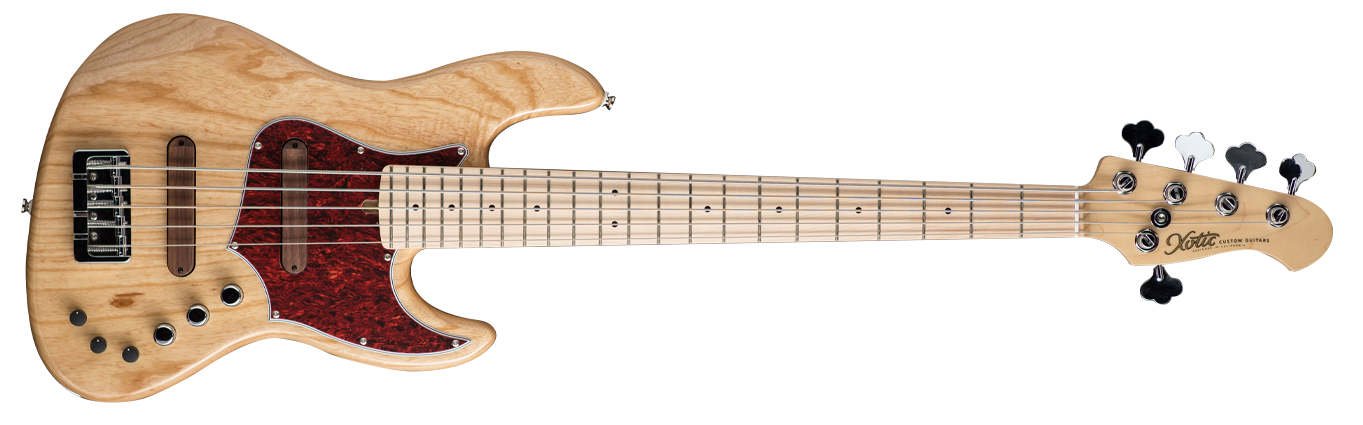 XJPRO-1 5-string (ASH BODY / MAPLE FB ) Natural - Stock Date - In Stock