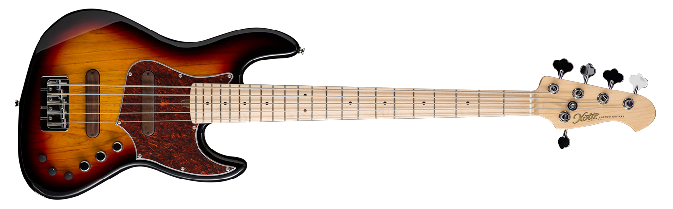 XJPRO-1 5-string (ASH BODY / MAPLE FB ) 3 Tone Burst - In Stock